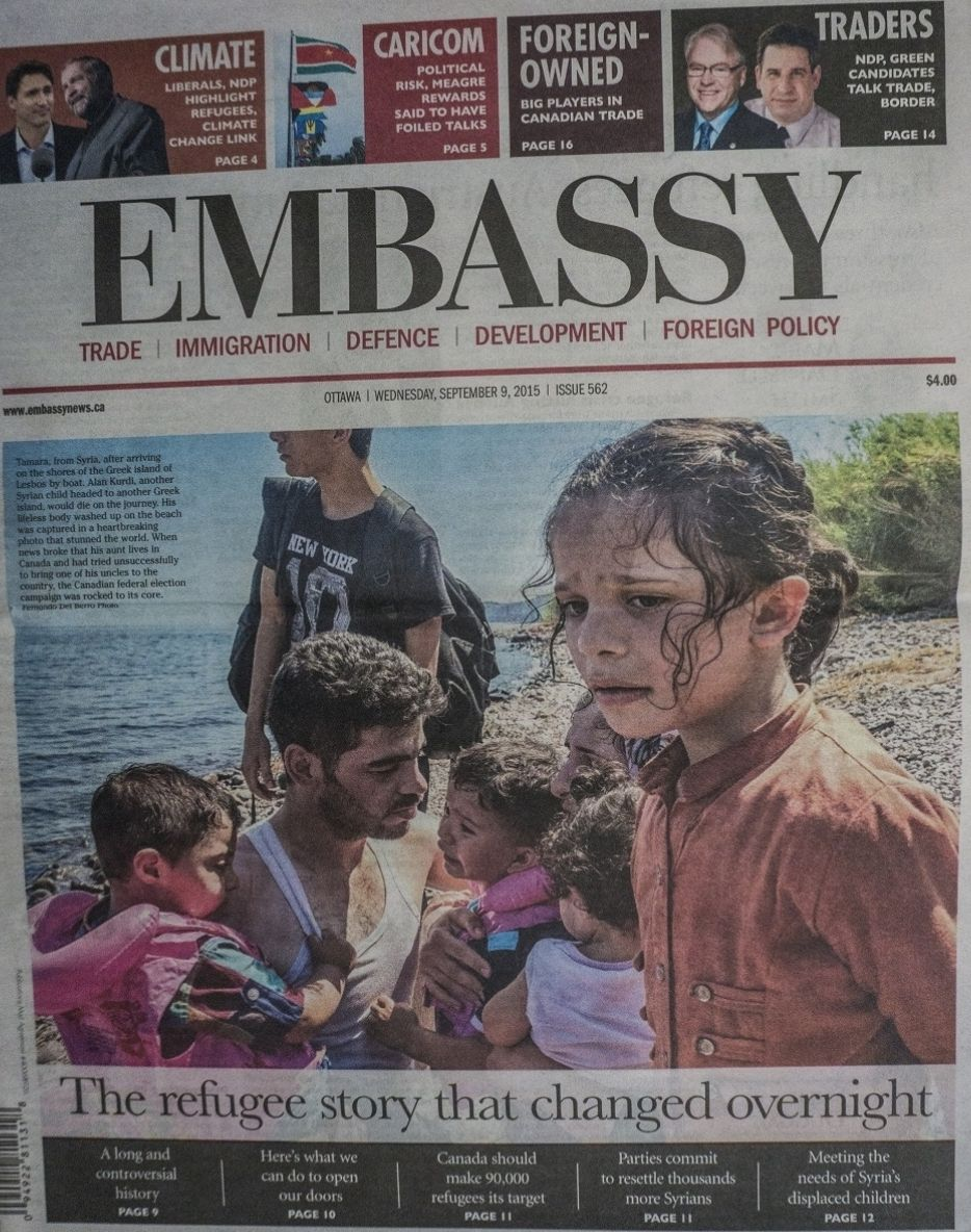 Embassy News. Refugees Lesbos