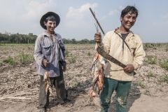 Peasants after fishing in Pueblos Unidos (United Peoples) an agro ecological community in Santa Cruz Department. Bolivia