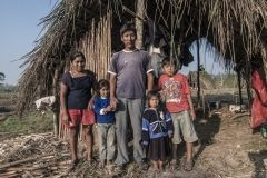 A family of peasants in Pueblos Unidos (United Peoples) an agro ecological community in Santa Cruz Department. Bolivia