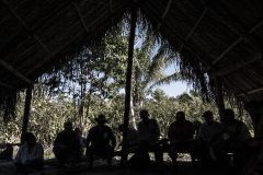 Landless Workers' Movement members in a meeting in Tierra Prometida (Promised Land), an agro ecological community in Santa Cruz Department. Bolivia